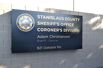 New Coroner Facility Sign